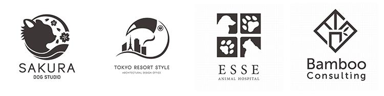 図形や動物などのイラストをモチーフにしたシンボル